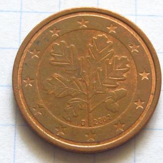 Германия_ 2 евро цента 2002 D оригинал