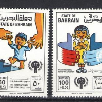 Бахрейн - год детей 1979 - Michel Nr. 282-283 **