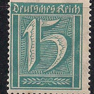 """Рейх**, 1922 г., стандартный выпуск """"цифры"""""""