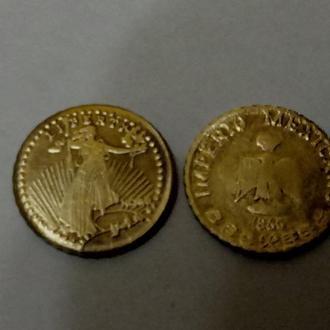 !!!лот из 2-х монет США,за Вашу цену!!!