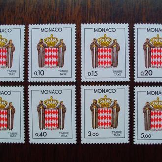 Монако.1985г. Герельдика. Полная серия. MNH