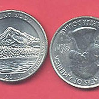 Монеты Америка США  25 центов 2010 г.  Орегон.