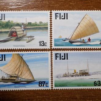 Фиджи транспорт корабль лодка КЦ=8м 1998