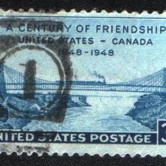 США (1948) Дружба с Канадой. Мост, поезд