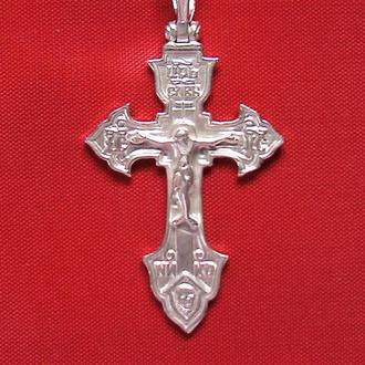 Крестик серебро 925 проба 2,75 грамма