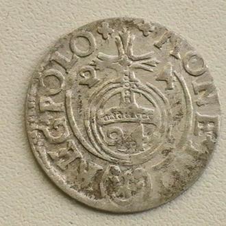 Полторак 1624 г Сигизмунд ІІІ Ваза Польша Серебро Півторак 1624 р Польща Срібло