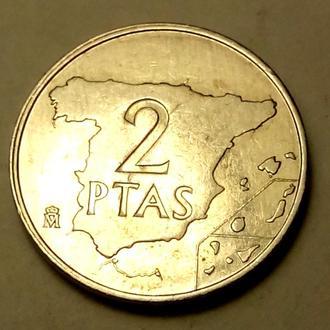 2 песеты 1984 года Испания !!! а2