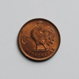 Мадагаскар 50 сантимов 1943 г., UNC, 'Заморская территория Франции (1943-1958)'