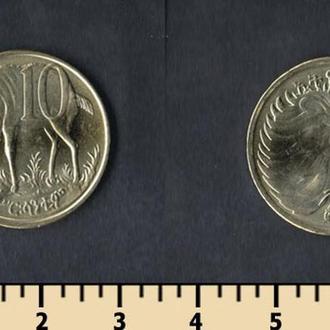 Эфиопия 10 центов 2000