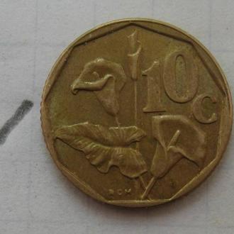 ЮАР 10 центов 1991 года.