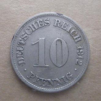 Германия 10 пфеннигов 1912 год (D)