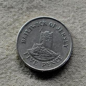 Джерси, 5 пенсов 1991 года (2377)