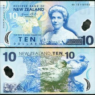 New Zealand / Новая Зеландия - 10 Dollars 2013 UNC