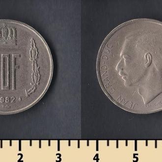 ЛЮКСЕМБУРГ 20 ФРАНКОВ 1982