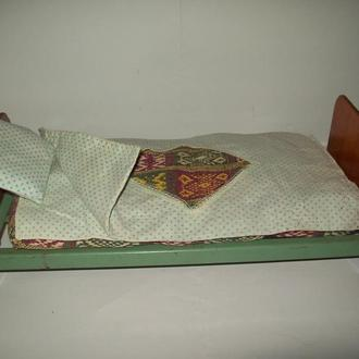 Кукольная кровать с постелью про-во СССР