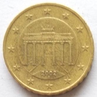 Германия 10 евро центов 2002 -A-