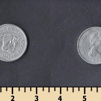 Сейшельские острова 1 цент 1972