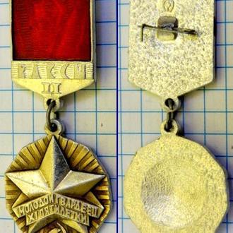 Знак ВЛКСМ Молодой Гвардеец Пятилетки (II степени) (1)