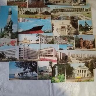 СССР открытки Николаев 17 шт. 1987 г.