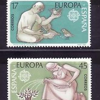 Испания 1986 EUROPA CEPT Охрана окружающей среды