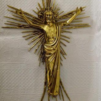 Красивейший и большой Крест. Бронза. Вес более 2,6 кг.