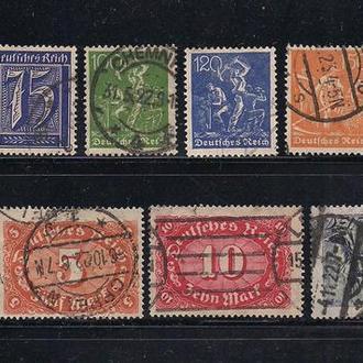 Рейх, 1921-22 гг., распродажа, 15% каталога, стандартный выпуск