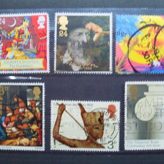 Великобритания.1967/2001гг. Подборка на тему искусство. КЦ 4.00 евро