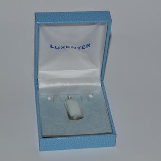 шикарный подвес с перламутром серебро 925 проба вес 7,52 грамма винтаж в коробке