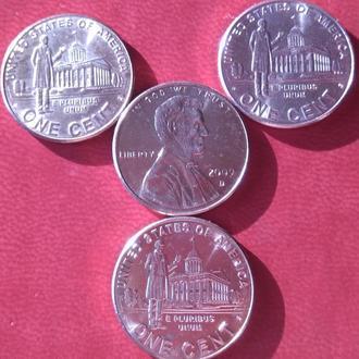 Монеты США. Серия жизнь Линкольна.