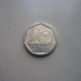 Чехия 20 геллеров 1993