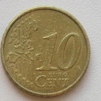 10 Євроцентів 2002 р Франція 10 Центів 2002 р 10 Евроцентов 2002 г Франция 10 Центов 2002 г