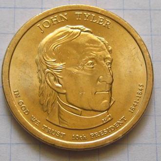 США_ 1 доллар 2009 года P  10-й президент Тайлер