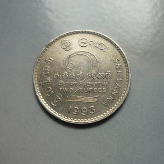 Шри-Ланка 2 рупии 1993