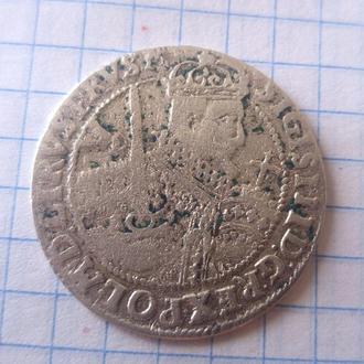 Орт Сигизмунда III Вазы 1623 Серебро сохран