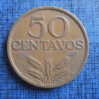 Монета 50 сентаво Португалия 1974