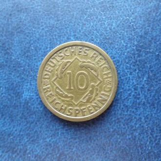 """Германия 10 рейхспфеннигов, 1924 (Отметка монетного двора """"A"""" — Берлин)"""