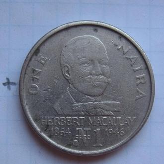 НИГЕРИЯ, 1 найра 1991 года.