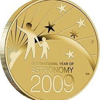 АВСТРАЛИЯ. The Perth Mint. 2009. 1$. Stargazing the southern skies.