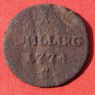 1 шилінг 1774 р. Аистрія для Галіції  \мідь\.