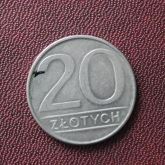 Польша, 20 злотых, 1986г.