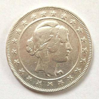2000 рейс, 1924 г, Бразилия,серебро