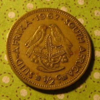 ЮАР 1962 год монета 1/2 цента Африка ПАР !