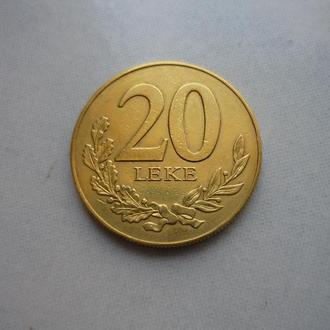 Албания 20 леков 2000 парусник