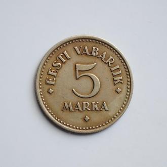 Эстония 5 марок 1924 г., XF, '1ая Республика (Марка) (1922-1927)'