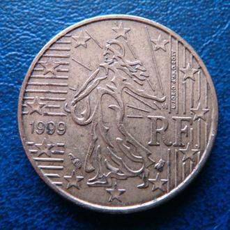 Франция 10 центов 1999