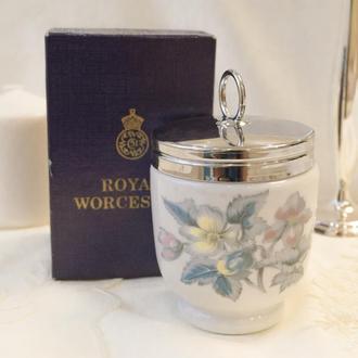 Фарфоровый кодлер на два яйца, King size, Royal Worcester, фарфор, Великобритания 0034 ф