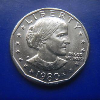 США 1 доллар 1980 D Сьюзен Энтони