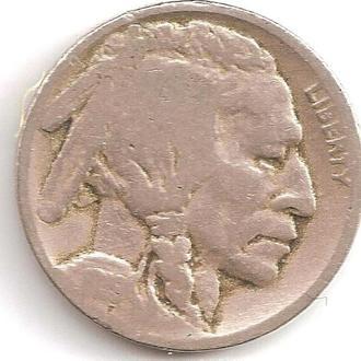 Монета 5 центов (США) 1919 Бизон (Индеец) (1)