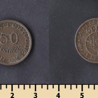 АНГОЛА 50 СЕНТАВО 1958