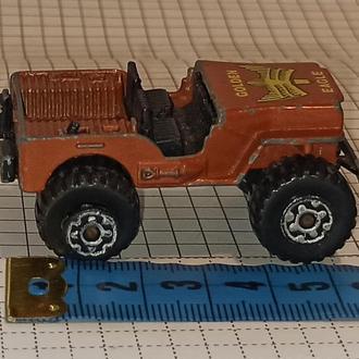 Matchbox 5 4x4 Jeep 1982 Джип шкала 1:59 Макао Macau golden eagle Голден игл колесо одно без стёкла